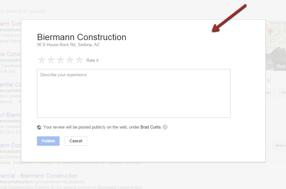 biermann construction google review form
