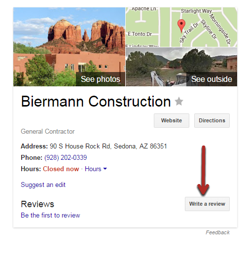 biermann construction on googlemybusiness