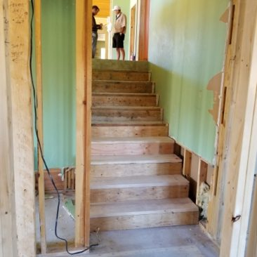 remodel deconstruct of house